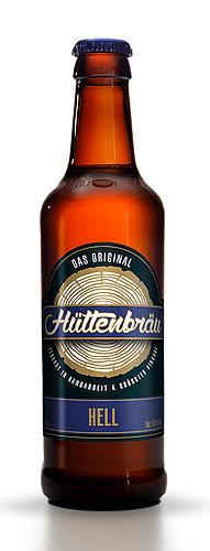 Hüttenbräu Hell 4,8% Vol. 24 x 33 cl EW Flasche