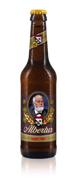 Egger Bier Albertus dunkel 5,2% Vol. 24 x 33 cl EW Flasche