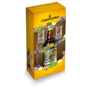 Appenzeller Alpenbitter 29% Vol. 70 cl mit 2 Shotgläser