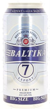 Baltika No 7 helles Premium Bier 5,4% Vol. 12 x 90 cl Dose Russland
