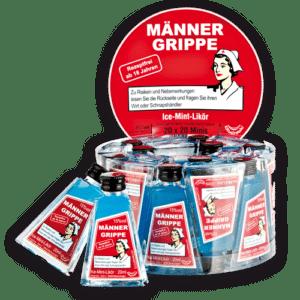 Männergrippe Ice Mint - Likör 15% Vol. 20 x 2cl