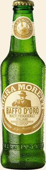 Birra Moretti Baffo D'Oro 4.8% 24 x 33 cl EW Flasche
