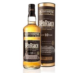 Whisky BenRiach 10 years Curiositas Peated Single Malt Speyside 46% Vol. 70 cl