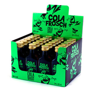 Cola Frosch Liqueur mit Colaaroma 30% Vol. 24 x 2 cl