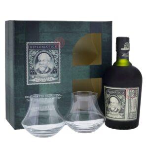 Rum Diplomatico Reserva Exclusiva 40% Vol. 70 cl Geschenkset mit 2 Gläser Venezuela