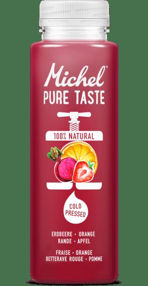 Michel Pure Taste Erdbeere, Orange, Rande, Apfel, 24 x 25 cl Pet ( Haltbarkeit bei Anlieferung: min. 10 Tage )