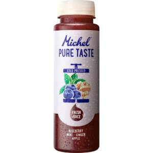 Michel Pure Taste Heidelbeere, Ingwer, Minze, 24 x 25 cl Pet ( Haltbarkeit bei Anlieferung: min. 10 Tage )