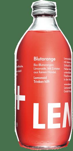 LemonAid Blutorange Bio 20 x 33 cl MW Glas