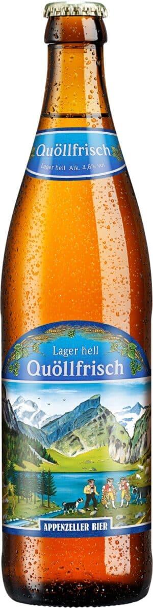 Appenzeller Quöllfrisch Lager hell 20 x 50 cl MW Flasche