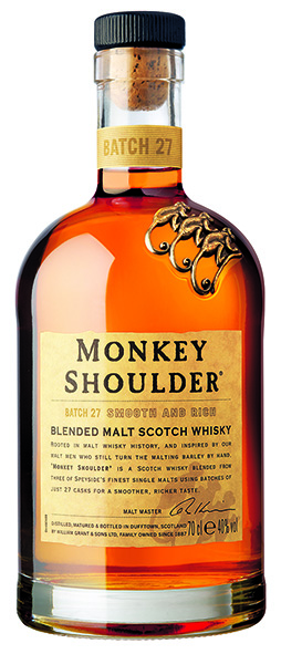 Monkey Shoulder Scotch Whisky Pure Triple Blend Highlands Speyside 40% Vol. 70 cl