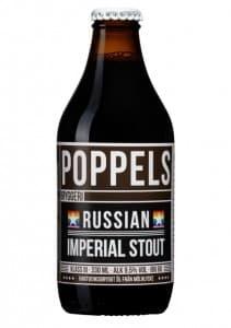 Poppels Russian Imperial Stout 9,5% Vol 24 x 33 cl EW Flasche Schweden
