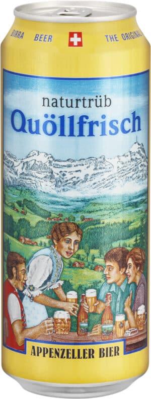Appenzeller Quöllfrisch Naturtrüb 4,8% Vol. 24 x 50 cl Dose