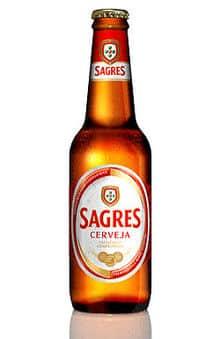 Sagres Branca Cerveja 5% Vol. 24 x 33 cl EW Glas