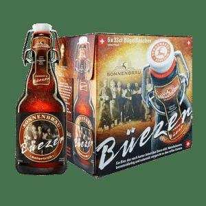 Sonnenbräu Büezer Bier 4,8% Vol. 24 x 33 cl EW Flasche