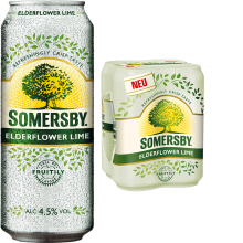 Somersby Elderflower Lime 4,5% Vol. 24 x 50 cl Dose