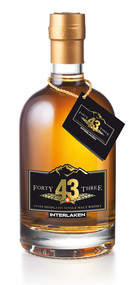 Swiss Mountain Single Malt Whisky «FORTY THREE» 43% Vol. 50 cl Schweiz