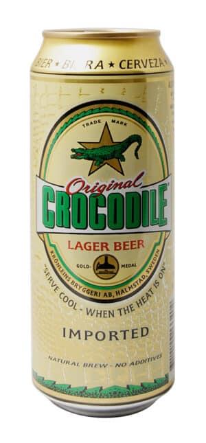 Crocodile Lager Beer 5,2% Vol. 50 cl Dose Schweden