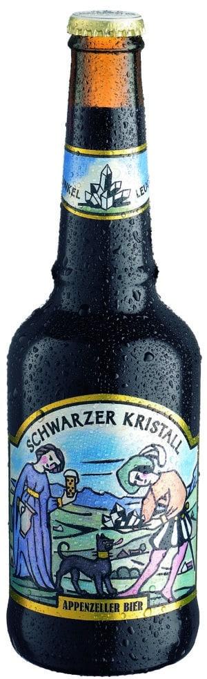 Appenzeller Schwarzer Kristall 6,3% Vol. 33 cl MW Flasche