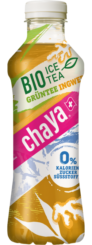 Chaya Grüntee-Ingwer Bio Knospe 12 x 50 cl PET