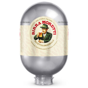 Birra Moretti 4,6% Vol. 2 Tanks mit je 8 Liter