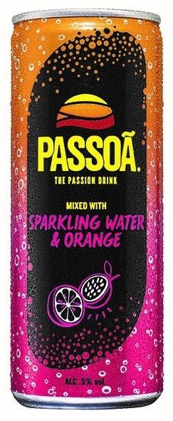 Passoa Sparkling Water & Orange 5% Vol. 24 x 25 cl Dose