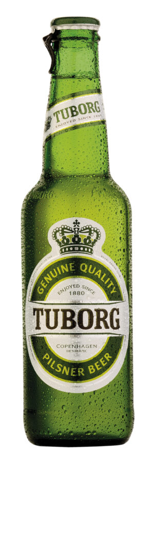 Tuborg Pilsener 4,9% Vol. 24 x 33 cl MW Flasche Dänemark