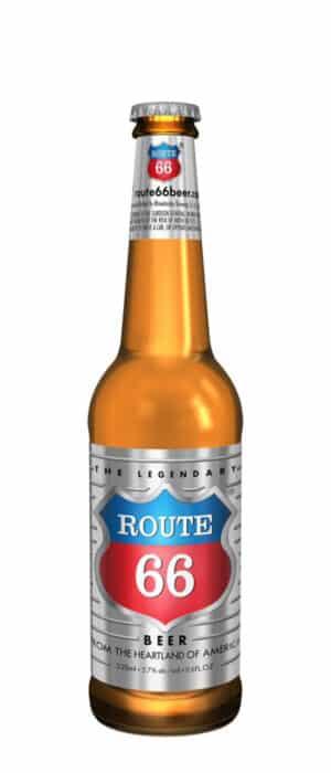 Rhinelander Brewing Route 66 5,7% Vol. 24 x 33 cl EW Flasche Amerika ( nur auf Anfrage )