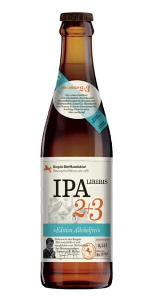 Riegele IPA Liberis 2 + 3 Sans alcool 8 x 33 cl EW Flasche Deutschland