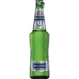 Baltika No.7 helles Premium Bier 5,4% Vol. 50 cl EW Flasche Russland