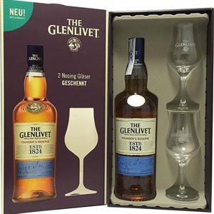 The Glenlivet Founders Reserve Pure Malt Geschenkpackung + 2 Glas 40% Vol. 70 cl