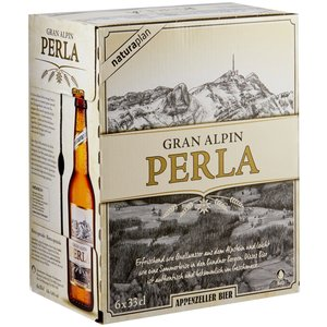 Appenzeller Grand Alpin Perla 5,2% Vol. 24 x 33 cl EW Flasche