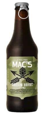 Mac's Green Beret IPA 5,6% Vol. 24 x 33 cl EW Flasche Neuseeland