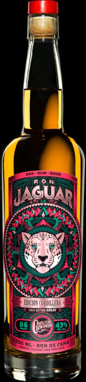 Jaguar Rum Edicion Cordillera 43% Vol. 70 cl Costa Rica