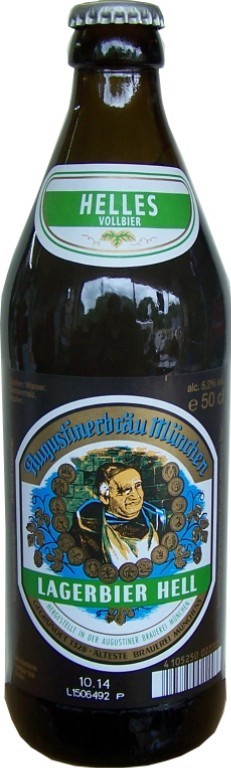 Augustiner Bier Lager hell 5,2% Vol. 50 cl MW Flasche