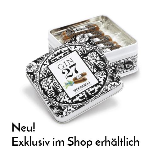 Gin 27 Premium Dry mit Schokoladen Stengeli