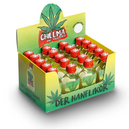 Der Hanflikör Chillma Mini 17% Vol. 20 x 2 cl