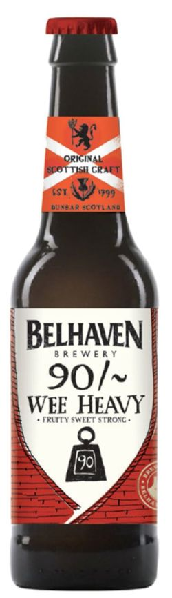 Belhaven 90 Wee Heavy Ale 7,4% Vol 12 x 33 cl EW Flasche Scotland