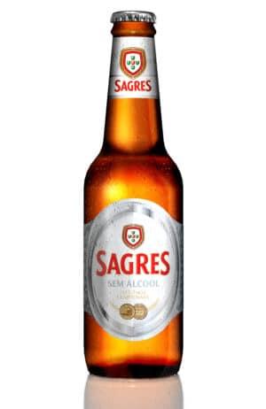 Sagres Branca sem alcool 0,5% Vol. 24 x 33 cl EW Glas Portugal