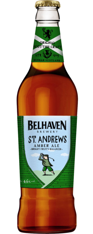 Belhaven St. Andrews Amber Ale 4,6% Vol. 12 x 50 cl EW Flasche Scotland