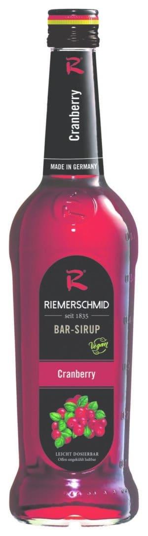 Riemerschmid Sirup Cranberry Barsyrup 70 cl