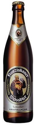 Franziskaner Weissbier Kristallklar 5% Vol. 20 x 50 cl MW Flasche