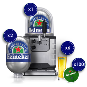 Heineken alkoholfrei 0,0% Vol. Starter Kit ! Alles was du benötigst für deine Party ! Let`s go !
