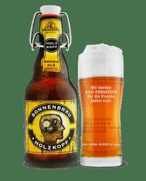 Sonnenbräu Holzkopf Brown Ale, 4,2% Vol. 20 x 33 cl MW Flasche