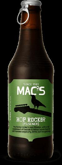 Mac's Hop Rocker Pils 5% Vol. 24 x 33 cl EW Flasche Neuseeland