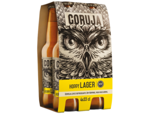 Coruja Hoppy Lager 4,5% Vol.  24 x 33 cl EW Flasche Portugal