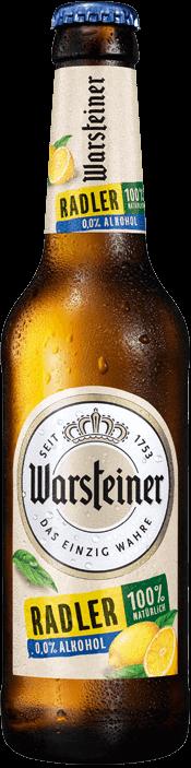Warsteiner Radler Zitrone alkoholfrei 24 x 33 cl EW Flasche