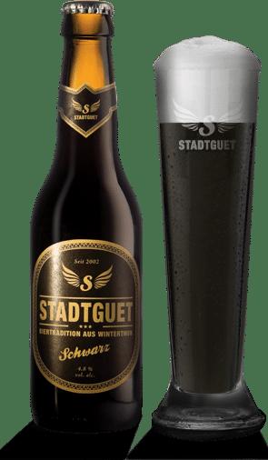 Stadtguet Schwarzbier 10 x 33 cl EW Flasche