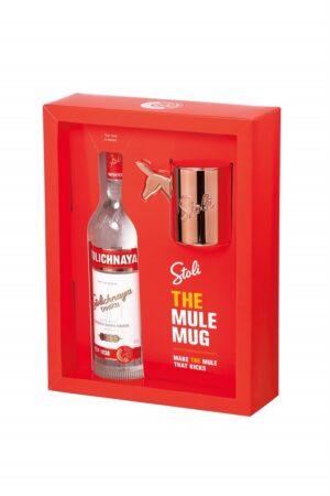 Vodka Stolichnaya The Mule Mug Kit 40% Vol. 70 cl Lettlands