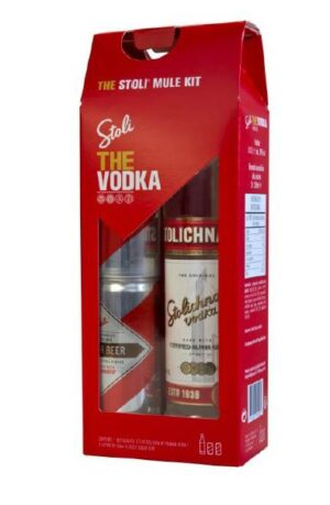 Vodka Stolichnaya Premium Geschenkpackung inkl. Stoli Ginger Beer 40% Vol 70 cl Lettlands