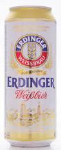 Erdinger Weissbier mit feiner Hefe 5,3% Vol. 50 cl Dose